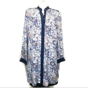 Women Club Monaco button down  tunic silk 12